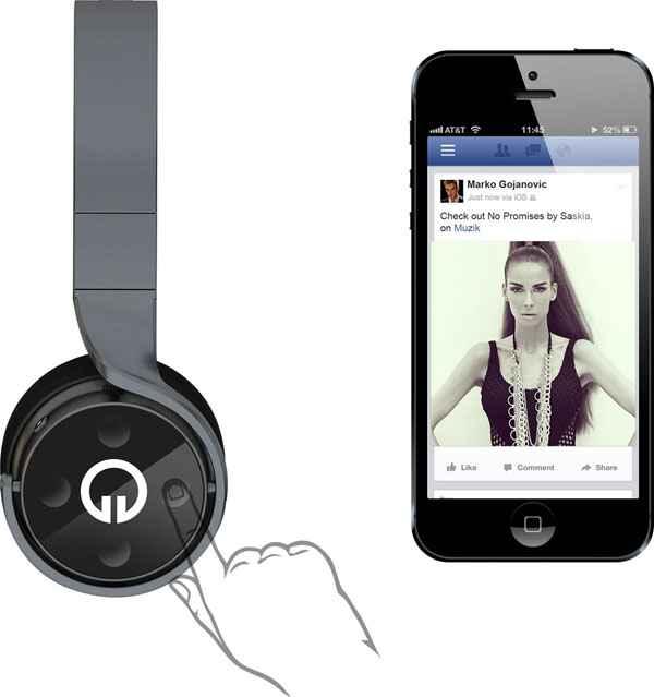 Muzik Socially Connected Smart Headphones