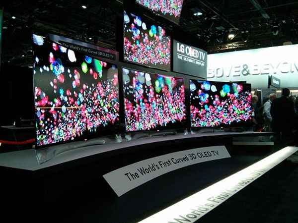 LG Curved OLED TV CES 2013