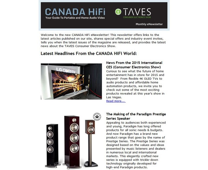 CANADA HiFi TAVES Newsletter 2