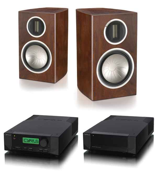 Cyrus Audio 8a Integrated Amplifier PSX-R Power Supply with Monitor Audio Gold GX100 Loudspeakers