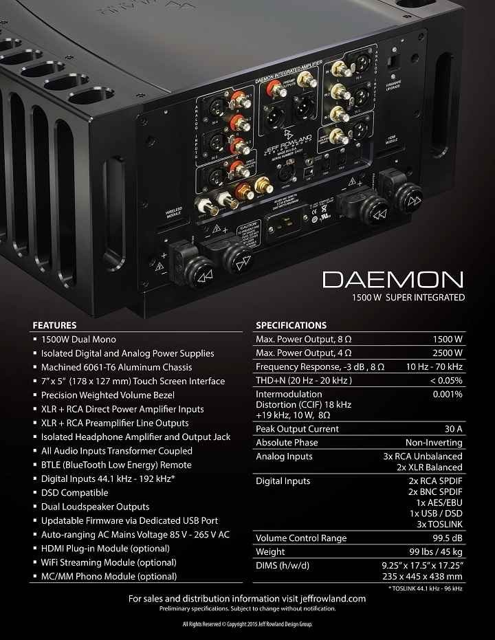 Jeff Rowland Daemon 1500W Super Integrated Amplifier 02