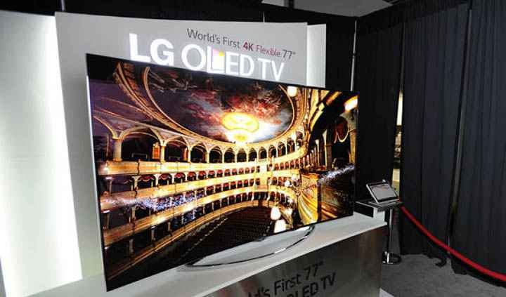LG-EG9900 Flexible OLED TV