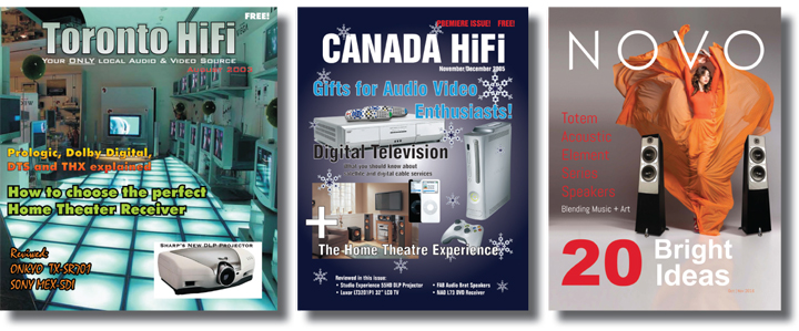 This Fall CANADA HiFi Will Become NOVO Magazine.indd