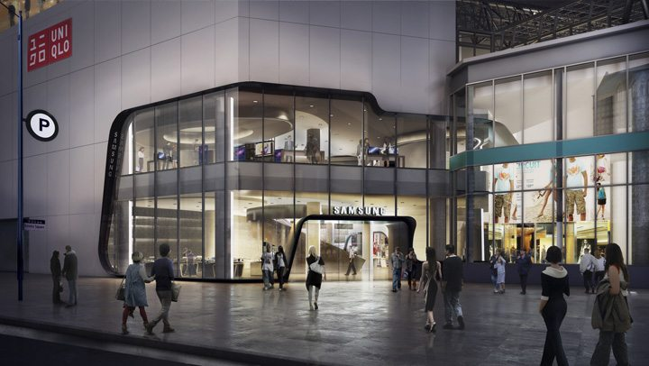 Arriving Summer 2017 at CF Toronto Eaton Centre, the two-level, 21,000 sq. ft. Samsung Experience Store facing Yonge-Dundas Square will bring the Samsung ecosystem to life (CNW Group/Samsung Electronics Canada)