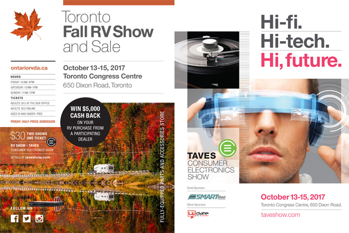 TAVES and Toronto RV Show Advertisement Combo Ad