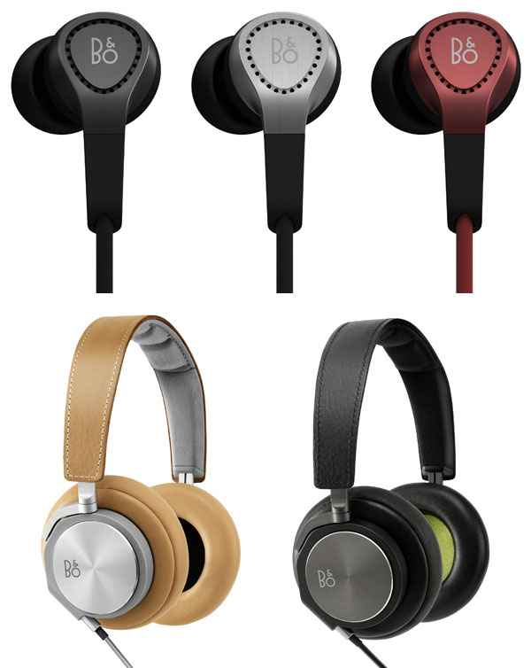 Bang & Olufsen BeoPlay H3 Earphones and H6 Headphones