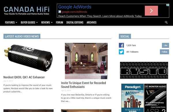 CANADA HiFi New Website 2014 (Custom)