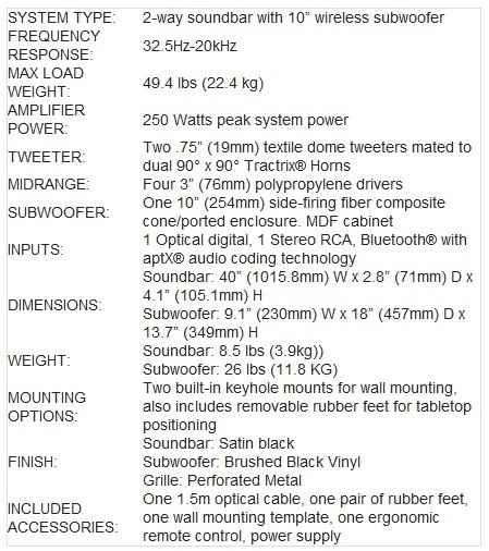 Klipsch - specifications