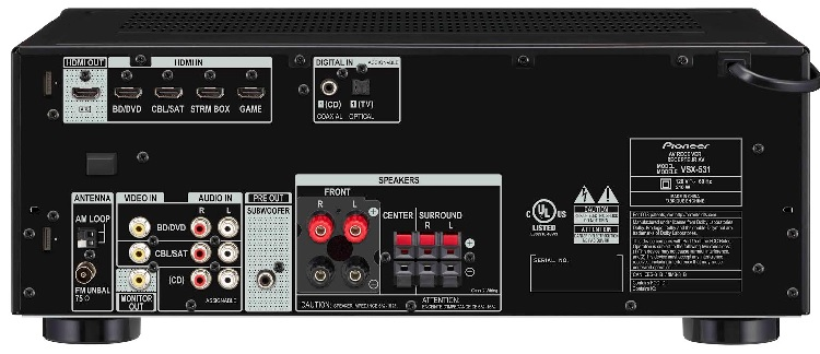 Pioneer AVR back