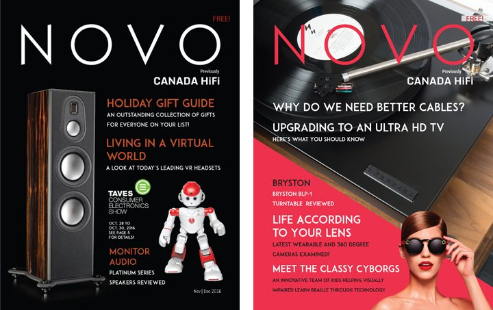 NOVO magazine covers