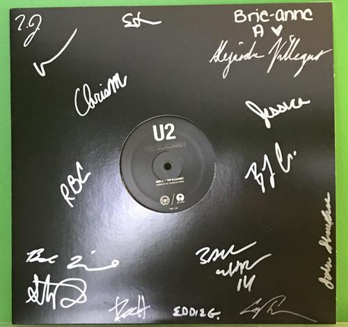 U2 The Blackout vinyl