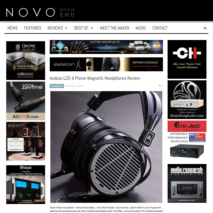 NOVO High-End website